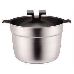 宮崎製作所 ライスポット 炊飯鍋 F-タイプ 全面ステンレス・アルミ芯3層鋼・フッ素樹脂加工 5合 RP-5F ホーム&キッチン IH調理器対応なべ