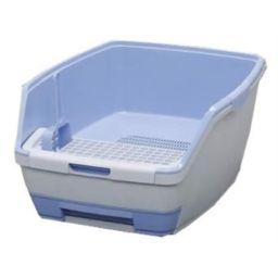 アイリスオーヤマ 1週間取り替えいらずネコトイレ 大玉用ハーフセット ペット用品 トレー・トイレ容器(猫用)