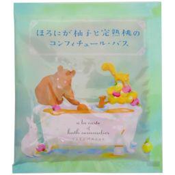 チャーリー ソムリエバスソルト ほろにが柚子と完熟桃のコンフィチュール・バス 40g(入浴剤 バスソルト) 日用品 バスソルト