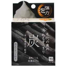 牛乳石鹸共進社 自然ごこち 炭 洗顔石けん 80g 日用品 化粧石鹸(固形)
