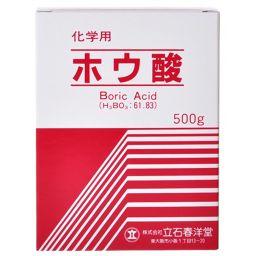 立石春洋堂 立石春洋堂 ホウ酸 粉末 化学用 500g 衛生医療 ホウ酸