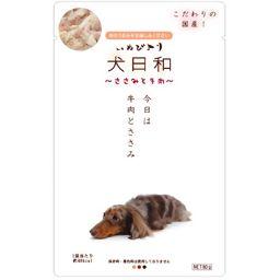 わんわん 犬日和 ささみと牛肉 80g ペット用品 ドッグフード(レトルト)