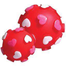 ノルコーポレーション プープードッグボールS ハート ペット用品 ボール(犬用)