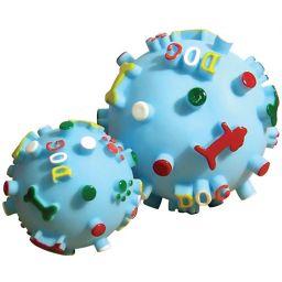 ノルコーポレーション プープードッグボールM 水色 ペット用品 ボール(犬用)