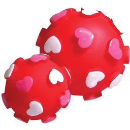 ノルコーポレーション プープードッグボールM ハート ペット用品 ボール(犬用)