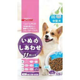 日清ペットフード いぬのしあわせ 11歳からの高齢犬用 中粒 1.5kg ペット用品 ドッグフード全部