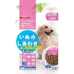 日清ペットフード いぬのしあわせ 1歳からの成犬用 脂肪・カロリー控えめタイプ 小粒 1.3kg ペット用品 ドッグフード全部