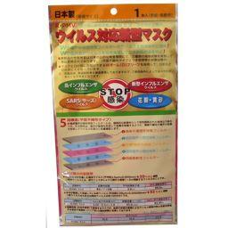 日本ライフ ウイルス対応新型マスク PM2.5対応 5層構造 1枚入 衛生医療 ウイルス対策マスク
