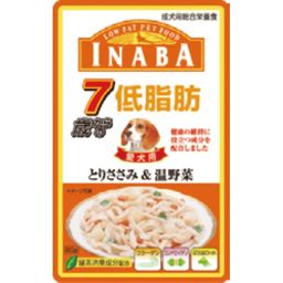 いなばペットフード 低脂肪 7歳からのとりささみ&温野菜 80g ペット用品 高齢犬用(ウェット・缶フード)