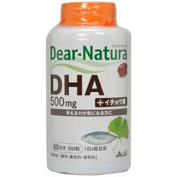 アサヒフードアンドヘルスケア ディアナチュラ DHA with イチョウ葉 240粒 健康食品 DHA
