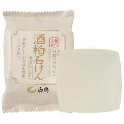 白鶴酒造 白鶴 酒粕石けん 100g 日用品 化粧石鹸(固形)