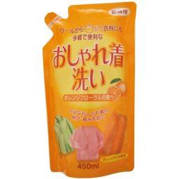ロケット石鹸 おしゃれ着洗い 詰替用 オレンジオイル配合 450ml 日用品 液体洗剤 衣類用(詰替)