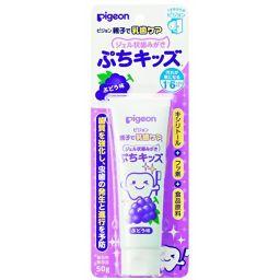 ピジョン ピジョン 親子で乳歯ケア ジェル状歯みがき ぷちキッズ ぶどう味 50g 日用品 こども用歯磨き粉