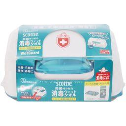 日本製紙クレシア スコッティ 消毒ウェットタオル ウェットガード 40枚入り ボックス 衛生医療 除菌用ウェットタオル