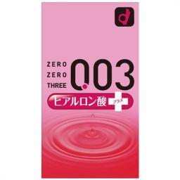 オカモト ゼロゼロスリー 003 ヒアルロン酸プラス 10個入(コンドーム) 衛生医療 コンドーム ゼリーたっぷり