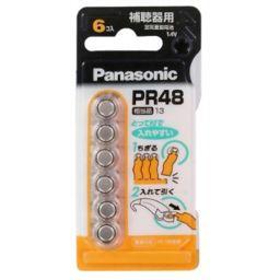 パナソニック パナソニック 補聴器用 空気亜鉛電池(6個入) PR-48/6P 家電 補聴器用電池