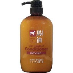 熊野油脂 馬油コンディショナー 600ml 化粧品 リンス ダメージ(枝毛・切れ毛)ケア用