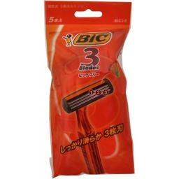 BICジャパン ビックスリー 5本入 化粧品 使い捨てカミソリ