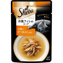 マースジャパンリミテッド シーバアミューズ お魚フィレのスープ 小魚とかつおぶし添え 40g ペット用品 キャットフード(ウエット・猫缶)