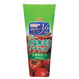 コーミ 家族思いの食塩無添加ケチャップ カロリーハーフ 280g フード トマトケチャップ
