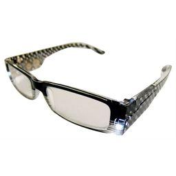 ネオビジョン LEDライト付きシニアグラス Neo023 ブラック +1.00(1.0度) 衛生医療 老眼鏡