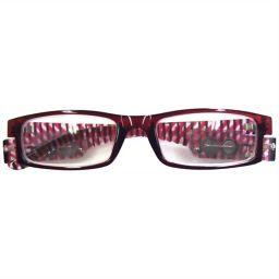 ネオビジョン LEDライト付きシニアグラス Neo023 レッド +3.00(3.0度) 衛生医療 老眼鏡