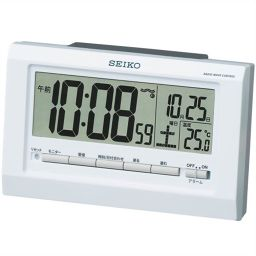 Seiko Clock Seiko Alarm Interlocking Light Lights Radio Wave Alarm Clock Sq755w Home Appliance Alarm Clock ー The Best Place To Buy Japanese Quality Products Samurai Mall