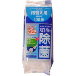 和光堂 和光堂 アルコール配合 除菌ウエッティー 詰替用 100枚 日用品 ウェットティッシュ全部