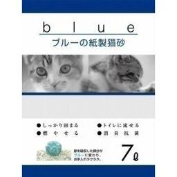 ペットプロジャパン KPG ブルーの紙製猫砂 7L ペット用品 猫砂・ネコ砂(紙・パルプ)