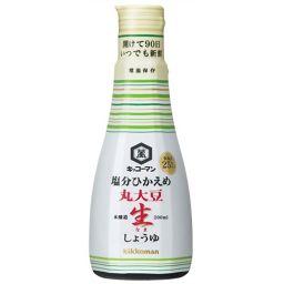 キッコーマン食品 キッコーマン 塩分ひかえめ 丸大豆生しょうゆ 200ml フード 生しょうゆ(非加熱)