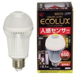 アイリスオーヤマ アイリスオーヤマ LED電球 人感センサー付 電球色相当 E26口金 全光束650lm LDA8L-H-S1 家電 LED電球(E26 口金)