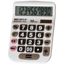 ジェントス ADESSO(アデッソ) やさしい電卓 セミデスクタイプ YD-361 家電 電卓全部