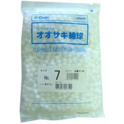 オオサキメディカル オオサキ綿球 No.7 50g入 衛生医療 綿球