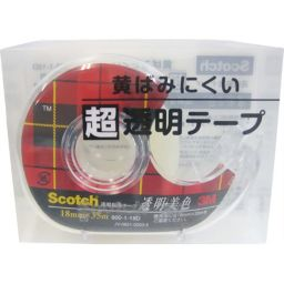 スリーエムジャパン スコッチ 透明美色 超透明テープ 18mm 600-1-18D ホーム&キッチン テープ