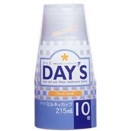 大和物産 デイズ ミルキィプラストカップ 10個入 ホーム&キッチン 紙コップ・簡易コップ