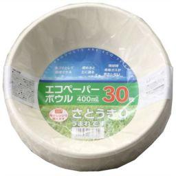 大和物産 バガスペーパーウェア エコペーパーボウル 400ml 30枚入 ホーム&キッチン 紙皿・簡易食器