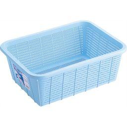 リス HOME&HOME キッチンバスケット 深型 L ブルー ホーム&キッチン キッチン収納グッズ