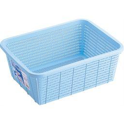 リス HOME&HOME キッチンバスケット 深型 M ブルー ホーム&キッチン キッチン収納グッズ