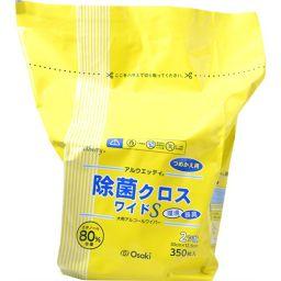 オオサキメディカル アルウエッティ除菌クロス ワイドS 350枚 詰替用 衛生医療 除菌用ウエットティッシュ