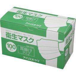 アイリスオーヤマ 衛生マスク 耳掛けタイプ EMN-100PEL 100枚入 衛生医療 マスク全部