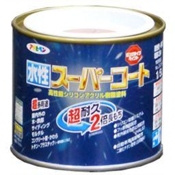 アサヒペン アサヒペン 水性スーパーコート ツヤ消し白 1/5L DIY・ガーデン 水性塗料(多用途)