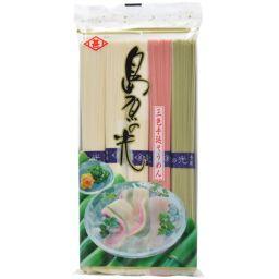 菱甚 ヒシジン 島原の光 三色手延そうめん 250g(5束) フード 素麺(そうめん)
