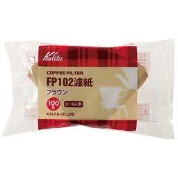 カリタ カリタ FP102濾紙ブラウンタイプ(100枚入) 2-4人用 2箱セット ホーム&キッチン コーヒーフィルター(ペーパーフィルター)