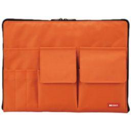LIHIT LAB LIHIT LAB バッグ・イン・バッグ A4 A-7554-4 橙 ホーム&キッチン バッグインバッグ