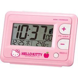 リズム時計工業 リズム時計 キャラクタークロック ハローキティ ピンク 8RZ095RH13 家電 目覚まし時計