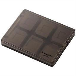 エレコム エレコム メモリーカードケース 大容量タイプ microSD用 クリアブラック CMC-06MC 家電 メモリーカード・メディアケース