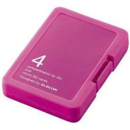 エレコム エレコム SD/microSDカードケース バタフライピンク CMC-SDCPPPN 家電 メモリーカード・メディアケース