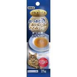 イースター(ペット) グルメライフ かつおだしのおいしいささみスープ かつお節・しらす入り 25g ペット用品 キャットフード(スープ)