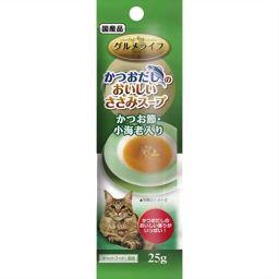 イースター(ペット) グルメライフ かつおだしのおいしいささみスープ かつお節・小海老入り 25g ペット用品 キャットフード(スープ)