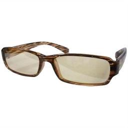 ハート光学 快適パソコンメガネ PC04-3 ブラウン/ストライプ 衛生医療 パソコン用メガネ(PCメガネ)